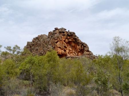 ranges: Corroboree Rock nel McDonnell Oriente spazia nel Territorio del Nord in Australia