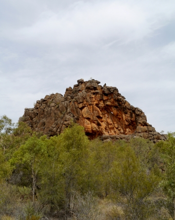 rock strata: Corroboree Rock in the East McDonnell ranges in the Northern Territory in Australia