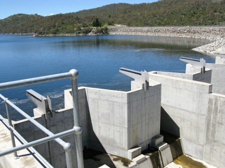 Tumut Pond Dam  in the Snowy Mountains of New South Wales in Australia photo