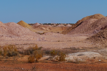 chrystals: Opal mines in Coober Pedy in the outback of Australia