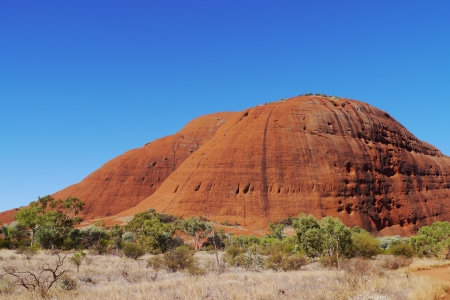 olgas: The Walpa gorge in the Northern Territory in Australia