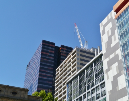 southgate: Modern architecture in the commercial district in Melbourne in Victoria in Australia