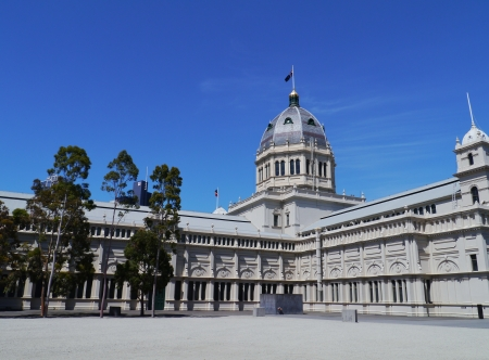 The Royal Exhibition Building in Carlton Gardens in Melbourne in Victoria in Australia