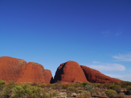 olgas: The Olgas in the Northern Territory in Australia Stock Photo