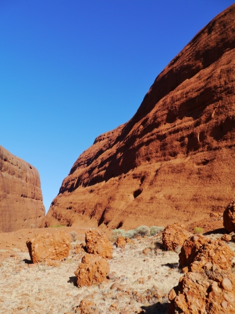 olgas: The Walpa gorge in the Olgas sandstone formation in the Northern Territory in Australia