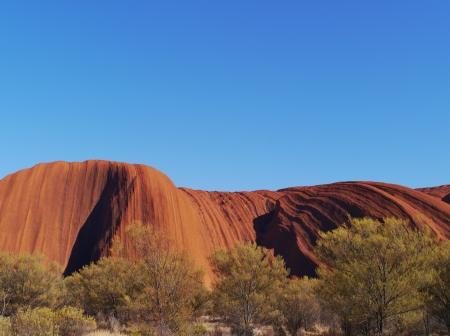 A detail of Ayers rock a sandstone formation in the Northern territory in Australia photo