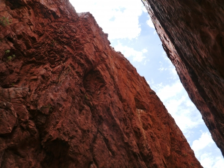 chasm: Stanley chasm in the West McDonnell ranges in the Northern Territory in Australia Stock Photo