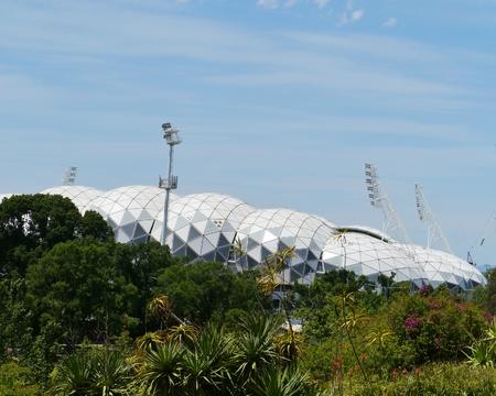 flack: The Melbourne Rectangular Stadium on Boulevard in Melbourne in Victoria in australia