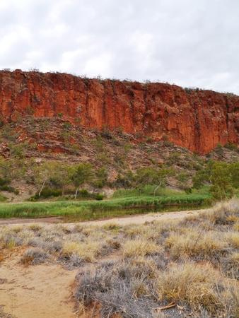 ranges: The Glen Helen, gorge in the Mcdonnell ranges