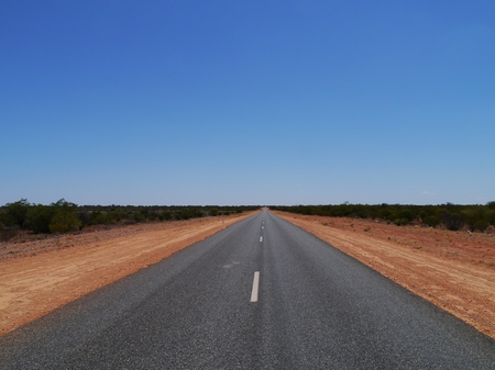 The Stuart Highway from Adelaide to Darwin in Australia photo