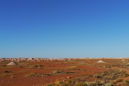 molehill: Opal mines in Coober Pedy in the outback of Australia