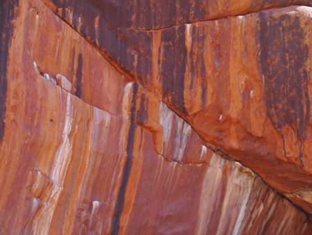 ayers: Cololrful walls of Ayers rock in Australia Editorial