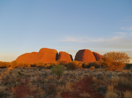 The Olgas or Kata tjuta a sandstone formation in the Northern Territory in Australia