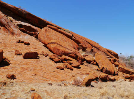 tjuta: A detail of Ayers rock a sandstone formation in the Northern territory in Australia