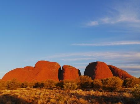 tjuta: The Olgas or Kata tjuta a sandstone formation in the Northern Territory in Australia