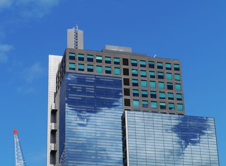 southgate: Modern architecture in the commercial district with the reflection of clouds in the glass in Melbourne in Victoria in Australia