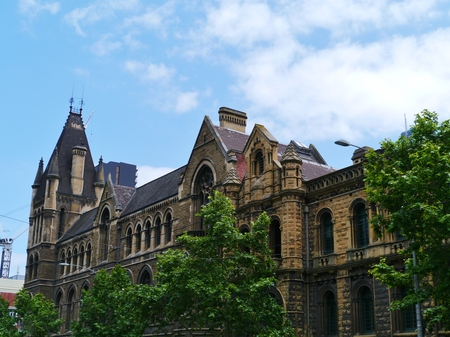 magistrates: The Former Melbourne Magistrates Court in Melbourne in Victoria in Australia is built in the French Romanesque style Editorial