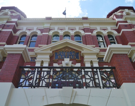 significant: The historic City Baths is a significant building in the center of Melbourne in Victoria in Australia