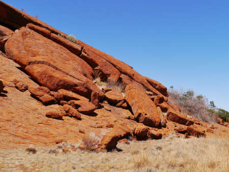 A detail of Ayers rock a sandstone formation in the Northern territory in Australia