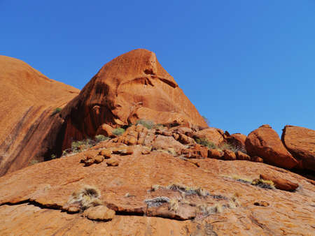 ayers: A detail of Ayers rock a sandstone formation in the Northern territory in Australia