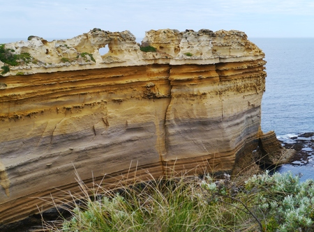 The razorback of the Loch Ard Gorge is part of Port Campbell National Park Victoria in  Australia photo