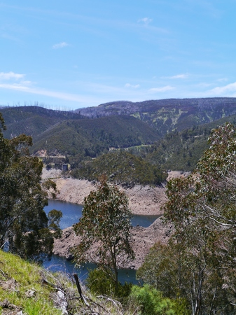 Tumut pond reservoir in the Upper Tooma river in the Snowy Mountains of New South Wales in Australia photo