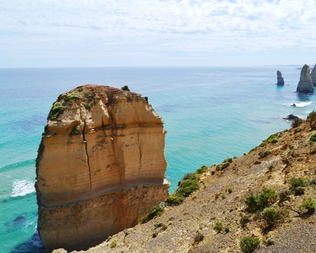 One of the twelve apostles at the Great Ocean road in Victoria in Australia photo
