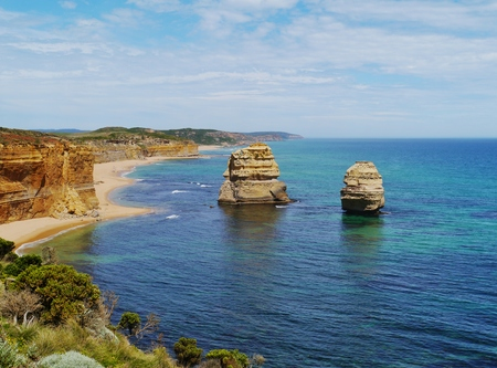 Two of the twelve apostles at the Great Ocean road in Victoria in Australia photo