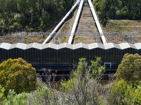 hydroelectricity: Pipes of the Snowy Mountains scheme a hydroelectricity and irrigation complex in New south Wales in Australia