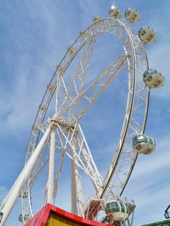 observation wheel: The Melbournestar observation wheel in Melbourne in Victoria in Australia