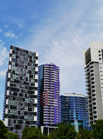 southgate: Modern buildings in the commercial district in Melbourne in Victoria in Australia