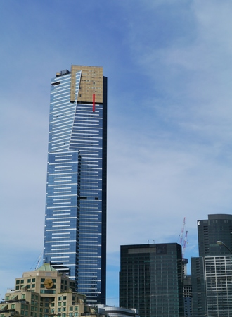 The Eureka tower in Melbourne in Victoria in Australia
