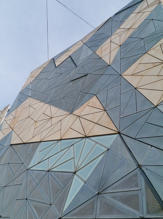 federation: Modern architecture on Federation square in Melbourne in Australia