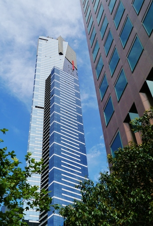 southgate: The Eureka tower in Melbourne in Victoria in Australia