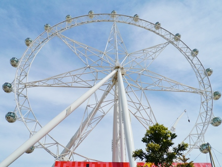 The Melbournestar observation wheel in Melbourne in Victoria in Australia