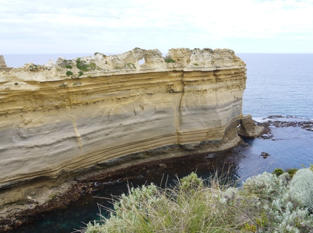ard: The razorback of the Loch Ard Gorge is part of Port Campbell National Park inVictoria in  Australia