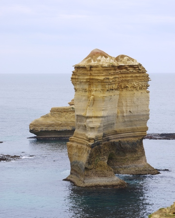 The coast of the Loch Ard Gorge is part of Port Campbell National Park in Victoria in Australia photo