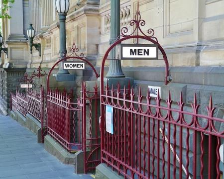Public toilets in a street in Melbourne in Victoria in Australia photo