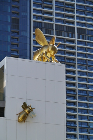 southgate: A detail of the Eureka tower in Melbourne in Australia Stock Photo