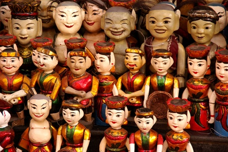 The water theatre dolls of Hanoi in Vietnam photo