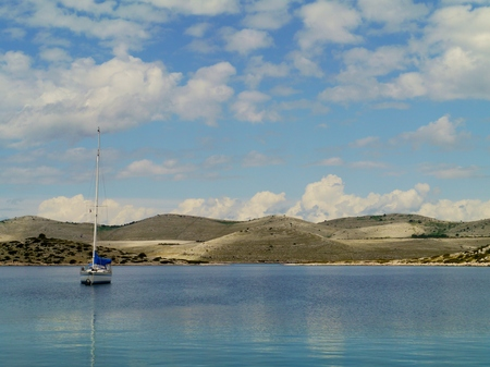 The Kornati islands in the Adriatic sea of Croatia photo