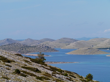 kornati national park: View on the Kornati national park from the island Levrnaka in Croatia