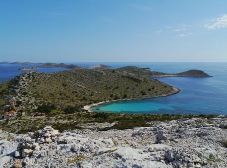kornat: The Lojena bay of the island Levrnaka in the Adriatic sea of Croatia