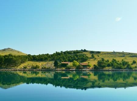 kornati national park: The island Kornat in the Statival bay of the Kornati national park in the Adriatic sea of Croatia Stock Photo