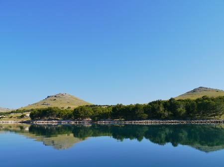 kornat: The island Kornat in the Statival bay of the Kornati national park in the Adriatic sea of Croatia Stock Photo