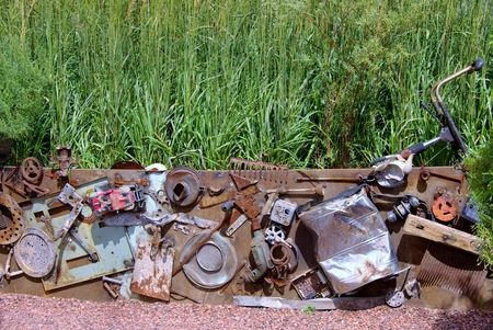 metal scrap: A collection of metal scrap in the field