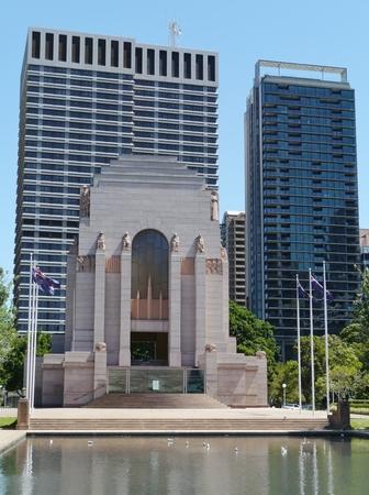anzac: Anzac war memorial in hyde park in Sydney in  Editorial