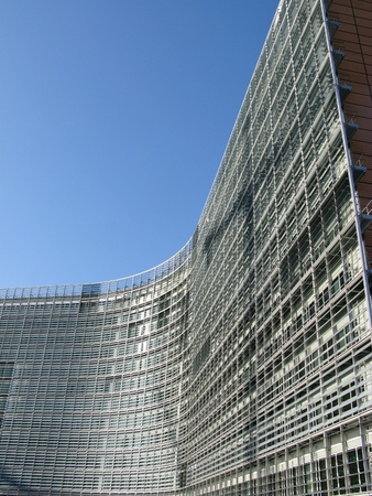 The building of the European parliament in Brussels in Belgium photo