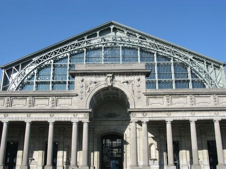 mondial: The palais mondial in the park of the filthiest anniversary in Brussels in Belgium