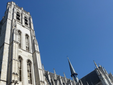 The st Michael and Gudule cathedral in Brussels in Belgium photo